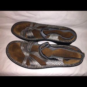 Naot metal leather sandals